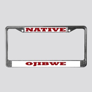 Ojibwe Native License Plate Frame