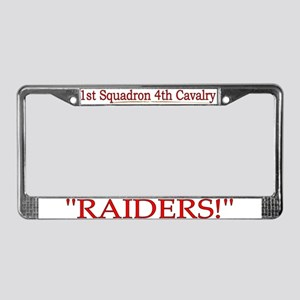 1st Squadron 4th Cavalry License Plate Frame