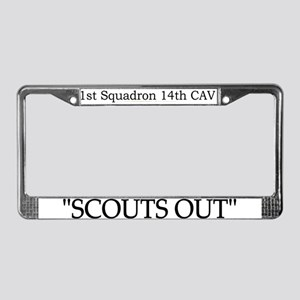1st Squadron 14th Cavalry License Plate Frame