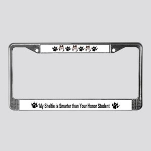Sheltie Shetland Sheepdog 2 License Plate Frame