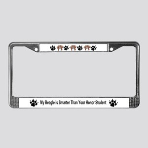 Honor Student Beagle License Plate Frame