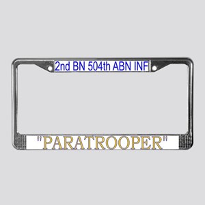 2nd Bn 504th ABN License Plate Frame