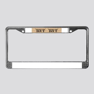 License Plate Frame Army Humor slogan