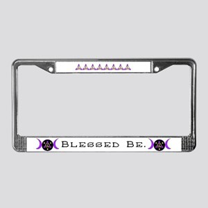 Purple Goddess Symbol License Plate Frame