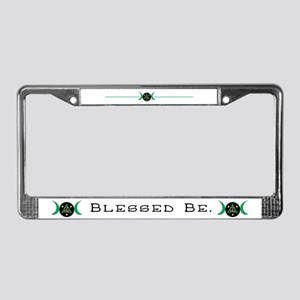 Blessed Be Goddess Symbol License Plate