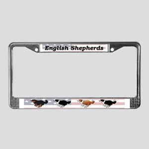 English Shepherds - License Plate Frame