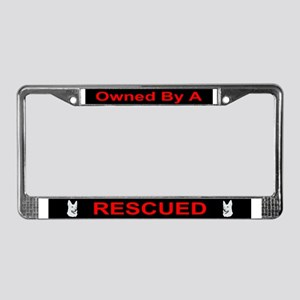White German Shepherd License Plate Frame