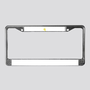 Kawaii Fruit Kawaii Banana Cut License Plate Frame