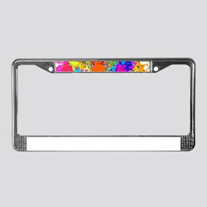Splat Vertical License Plate Frame