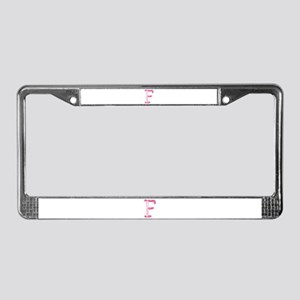 F Princess Balloons License Plate Frame