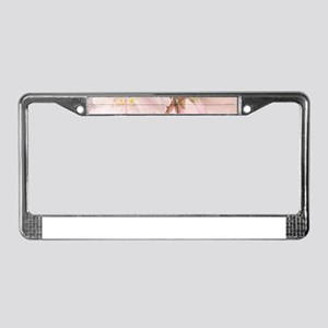 Romantic Vintage Shabby Chic F License Plate Frame