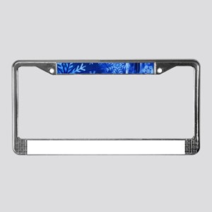 Blue Snowflakes Winter License Plate Frame