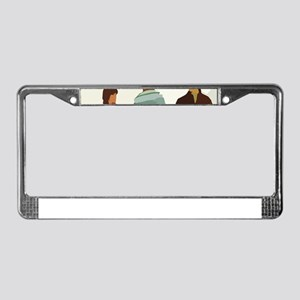 1970s vintage men License Plate Frame