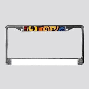 Summer Sun Flowers License Plate Frame