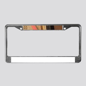 Inside a Piano License Plate Frame