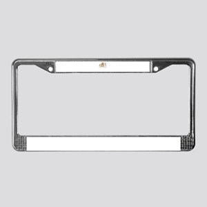 peace love rescue License Plate Frame
