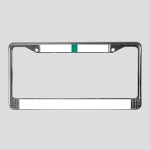 Abstract Rabbit Green License Plate Frame