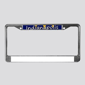 INDIANAPOLIS INDIANA FLAGS License Plate Frame