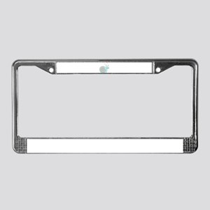 Lovely Snail License Plate Frame