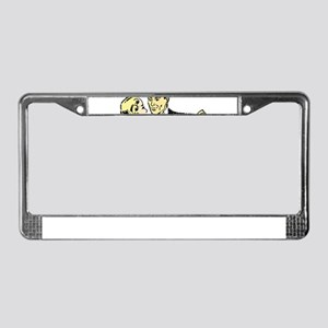 1940s dancing couple License Plate Frame