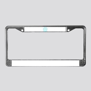 100% Dog Pawprint in Baby Blue License Plate Frame