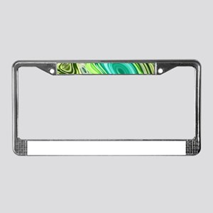 teal swirls mint green License Plate Frame