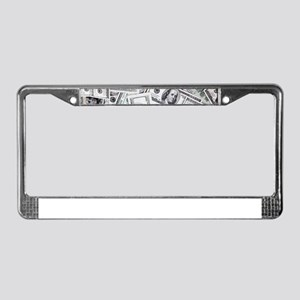 Money - Hundred Dollar Bills License Plate Frame