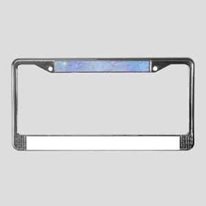 digital butterflies License Plate Frame