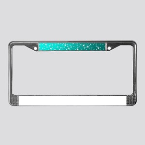 christmas stars License Plate Frame