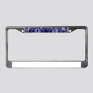 Blue Marble Quilt License Plate Frame
