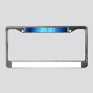 Blue Line Pattern License Plate Frame