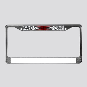 Celtic Knot Doodle Red License Plate Frame