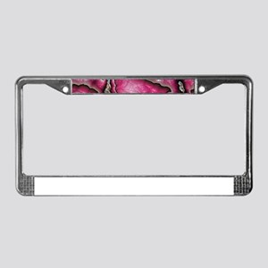pink glimmer confusion License Plate Frame