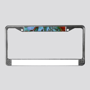 freaky friday red green License Plate Frame