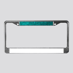 one color painting,aqua License Plate Frame