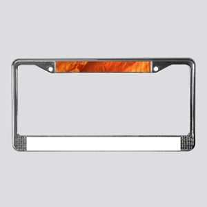 Fantastic Wood Grain License Plate Frame