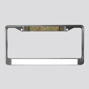 William Morris Floral lily wil License Plate Frame