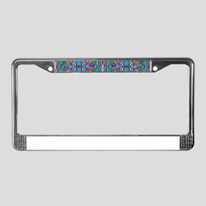 Colorful Abstract Psychedelic License Plate Frame