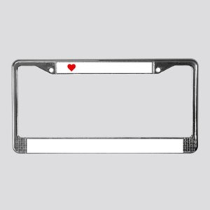 I love dodge truck show License Plate Frame