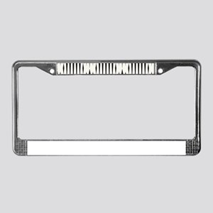 Pattern Black&White License Plate Frame