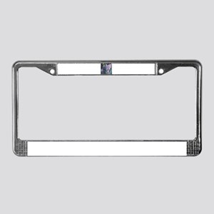 Wisteria Abstract License Plate Frame
