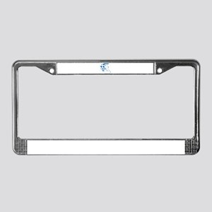 Greece Flag And Map License Plate Frame