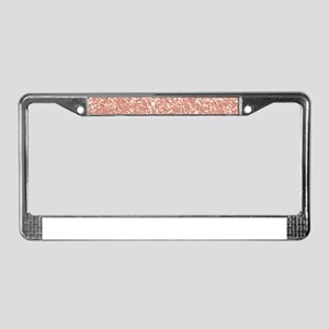 Rose Gold Faux Glitter License Plate Frame
