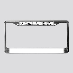 Heart Cats License Plate Frame