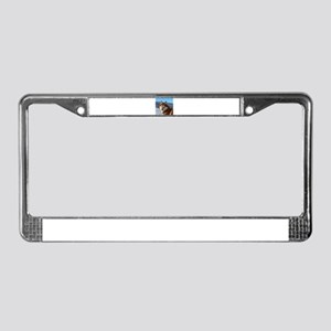siberian husky red and white License Plate Frame