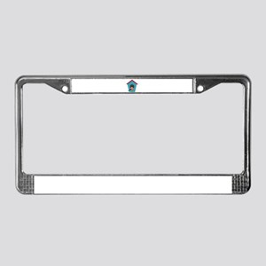 Oriole on Plaid License Plate Frame