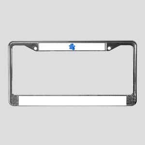 Blue Meeple License Plate Frame