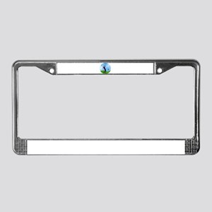Golf Swing on the Fairway License Plate Frame