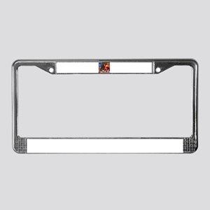 Santa Claus Decorates the CHir License Plate Frame