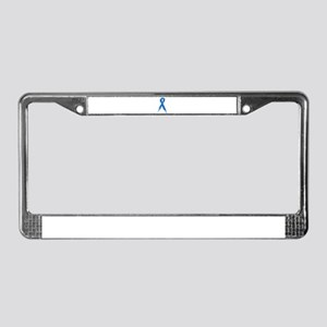 Blue Ribbon License Plate Frame